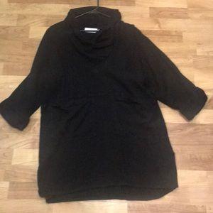 Soft Surroundings Black Linen/Rayon Tunic- S/M